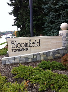 Bloomfield Township Welcome Sign