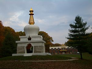 Tibetan Americans - On the grounds of Tibetan Mongolian Buddhist Cultural Center, Bloomington, Indiana