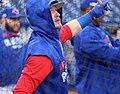 Blue Jays third baseman Josh Donaldson takes batting practice before the AL Wild Card Game. (30051716541).jpg