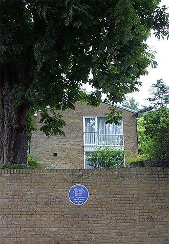Michael Ventris - Ventris's home, 1952–1956, which he and his wife, Lois, also an architect, designed