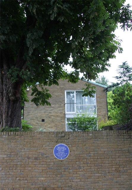 Blue Plaque for Michael Ventris - geograph.org.uk - 884994