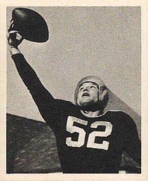 Bob Skoglund - Skoglund on a 1948 Bowman football card