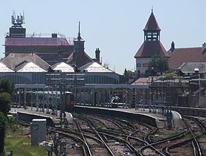 Bognor Regis railway station - Bognor Regis station and pointwork