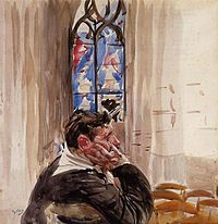 Boldini, Man in church.jpg