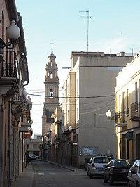 Bonrepòs i Mirambell. Església i carrer Major.jpg