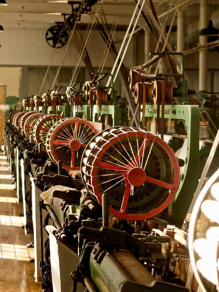 Boott cotton mill looms