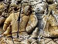 Borobudur - Lalitavistara - 012 E, The Bodhisattva descends to Earth accompanied by the Gods (detail 4) (11247863964).jpg