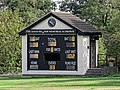 Botany Bay Cricket Club ground scoreboard in Botany Bay, Enfield, London.jpg