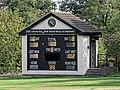 Botany Bay Cricket Club ground scoreboard in Botany Bay, Enfield, London.jpg