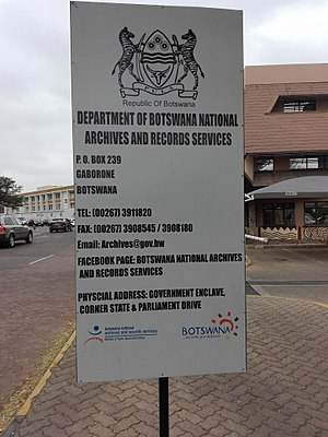 Botswana National Archives and Records Services - Botswana Archives and records management centre