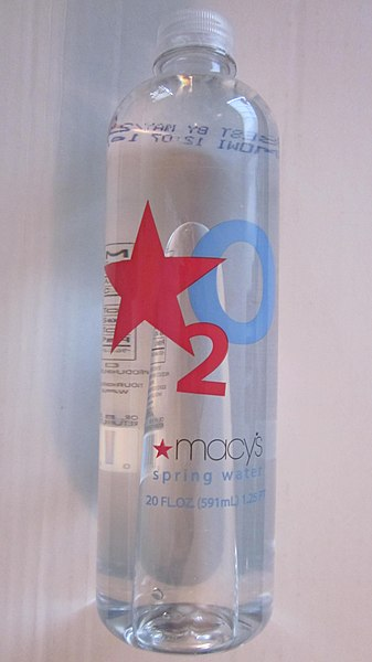 File:Bottle of Macy's water.JPG