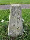Boundary stone marking the limits of the Tees Barrage and the Tees and Hartlepool Port Authority