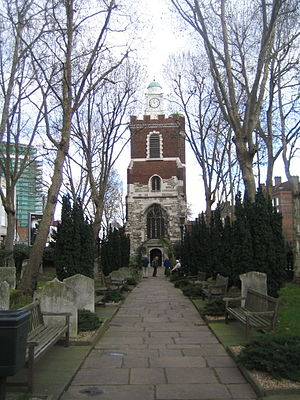 Bow, London - The Parish Church of St Mary and Holy Trinity, Stratford, Bow; known as Bow Church