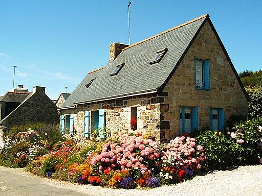 Bretagne Finistere BauernhausaufCrozon 19064