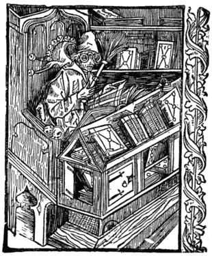 THE BIBLIOMANIAC From 'Navis Stultifera' (The Ship of Fools)