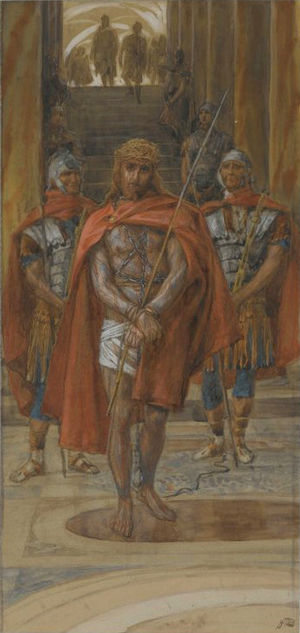 Jesus Leaves the Praetorium