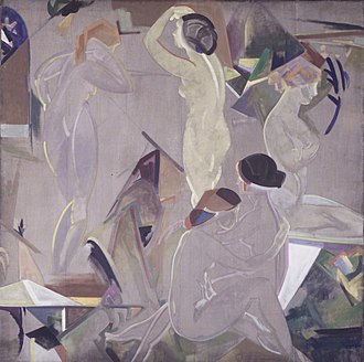 Arthur Bowen Davies - Arthur B. Davies, The Dawning, 1915. Brooklyn Museum
