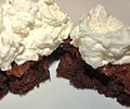 Brownies with whipped cream? meh (4449584458).jpg