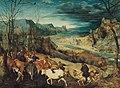 Bruegel - Heimkehr der Herde (Herbst), 1565 datiert.jpg