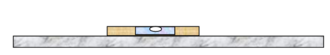 Horizontal and vertical - Spirit level bubble on a marble shelf tests for horizontality