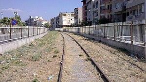 Buca Branch Railway - The remaining tracks of the railway near Şirinyer