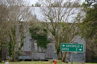 National Register of Historic Places listings in Gates County, North Carolina - Image: Buckland abandoned house