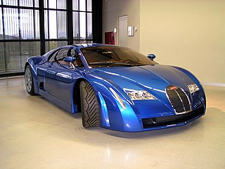 Concept car developed by Bugatti and Italdesign in 1999