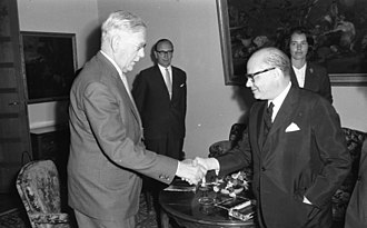 Heinrich Krone - Heinrich Krone (left) meeting the Colombian politician Carlos Lleras Restrepo, 1964