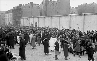 Warsaw Ghetto - Warsaw Ghetto, 1941, intersection of Ksawery Lubecki and Gęsia street