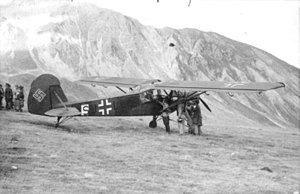 Gran Sasso raid - Storch used to rescue Mussolini