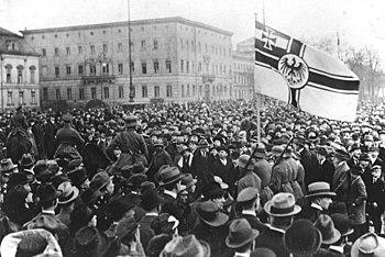Kapp Putsch.- Entry of the Ehrhardt Naval Brigade into Berlin, occupation of Berlin, March 1920