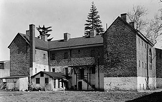 Mount Holly, New Jersey - Burlington County Prison in Mount Holly, New Jersey. Photo circa 1938.