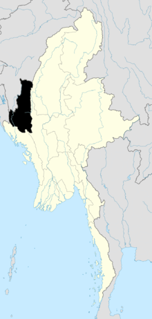 Location o Chin State in Burma