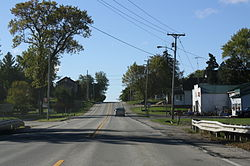 Looking south in Burnett on WIS 26