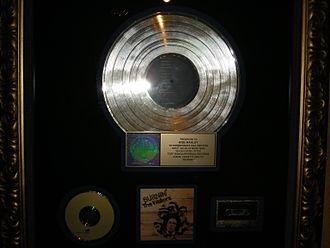 Burnin' (The Wailers album) - The Wailers' gold record award for Burnin' in Nine Mile, Jamaica