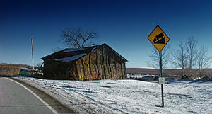 Burnside Township, Centre County, Pennsylvania - An old barn on a farm in Burnside Township