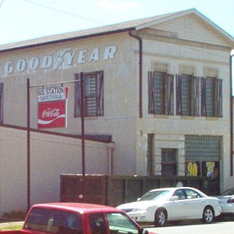 Cedartown, Georgia - Though the Cedartown Bus Station sign still hangs in downtown, the station was closed years ago.