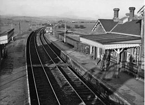 Buxted railway station - View northwards, towards Eridge, in 1960