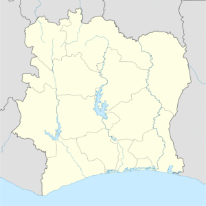 Yamoussoukro is located in Côte d'Ivoire