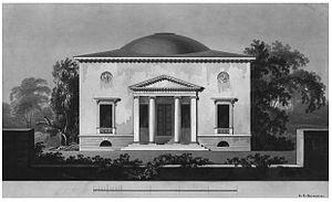 Elbchaussee - Baur's Landhaus (1806) by C. F. Hansen at Elbchaussee 372, Nienstedten