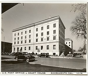 Federal Building (Sacramento) - 1938 view, looking southwest from 9th street