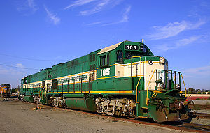 California Northern Railroad - Image: CFNR 105 EMD GP15 1