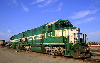 California Northern Railroad - Image: CFNR 105 EMD GP15 1