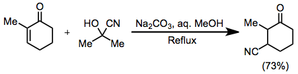 Hydrocyanation of unsaturated carbonyl compounds - Image: CN Add Scope 1