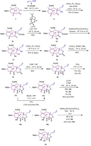 Holton Taxol total synthesis - Scheme 2.