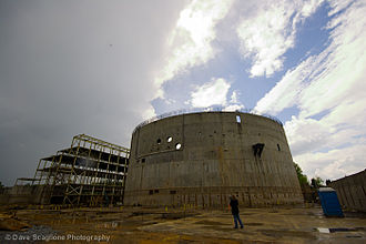Cherokee Nuclear Power Plant - Abandoned unit 1 reactor building