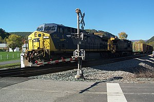 A CSX freight train passes through Iron Gate in 2007.