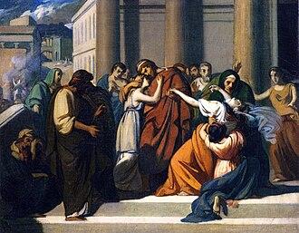 Jocasta - Oedipus Separating from Jocasta by Alexandre Cabanel.