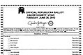 Cache County, Utah 2012 Republican Primary ballot.jpg
