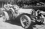 """Cadillac Model 30 with a mounted Browning automatic, """"Balloon destroyers"""" Glidden tour LCCN2014688370 (cropped).jpg"""